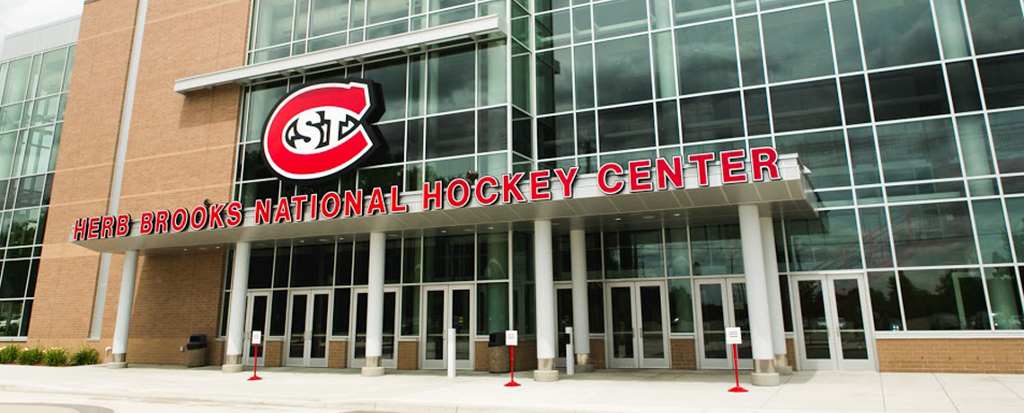 outside of st. cloud scsu hockey center